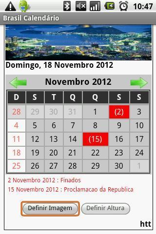 Brasil Calendário 2013 - Imagem 2 do software
