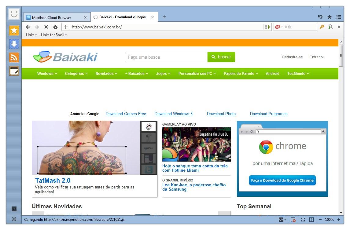 navegador maxthon browser