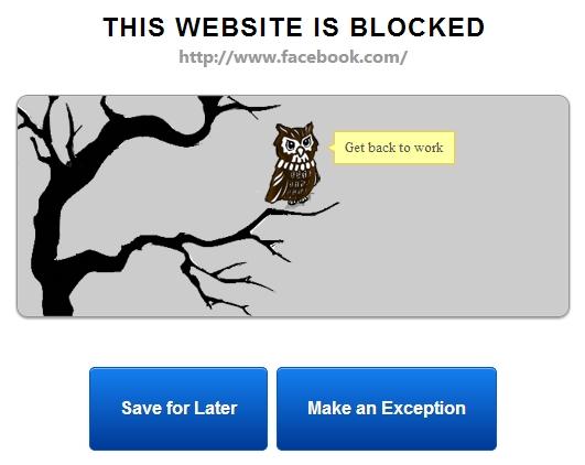 Sites bloqueados!