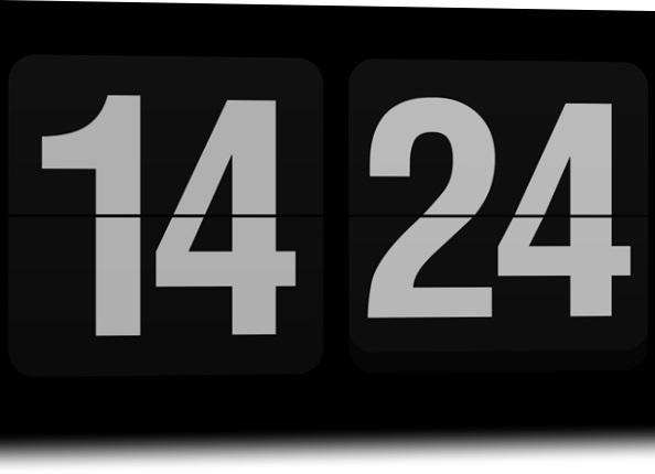 O protetor de tela no formato 24 horas