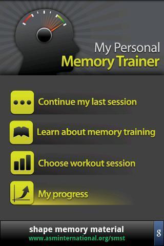 Memory Trainer - Imagem 1 do software