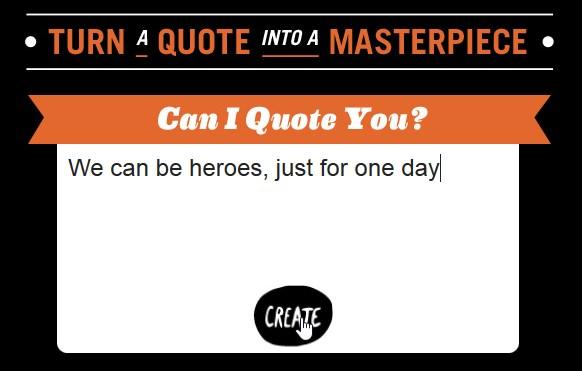 Crie um pôster com a sua citação favorita