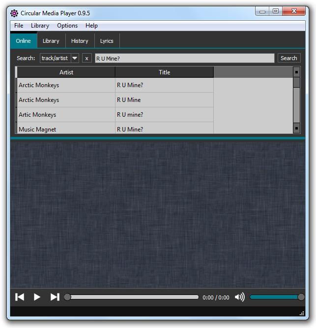 Circular Media Player - Imagem 1 do software