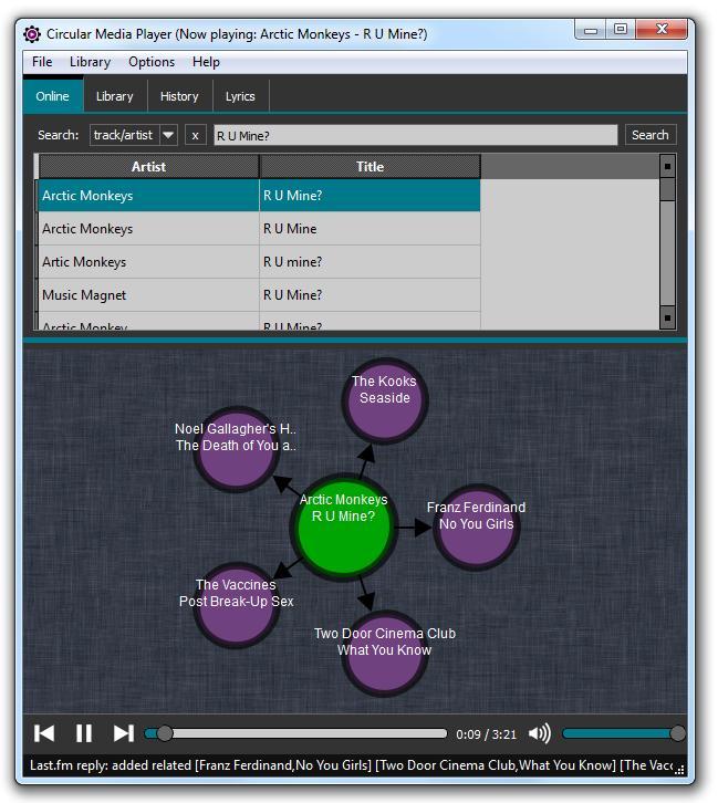 Circular Media Player - Imagem 2 do software