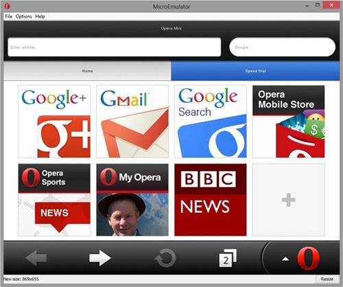 A aba inicial do navegador.