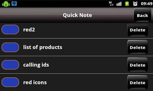 Quick Notes pad - Save & share - Imagem 1 do software