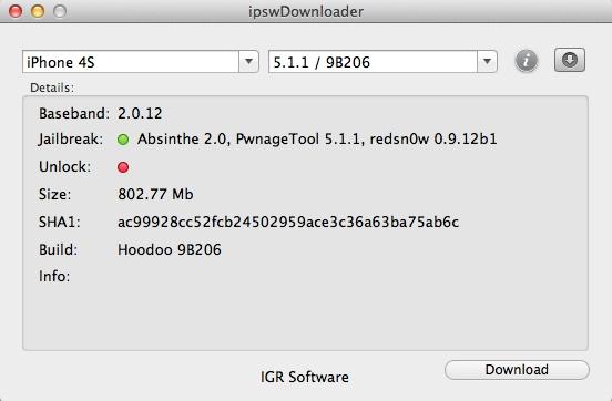 ipswDownloader - Imagem 1 do software