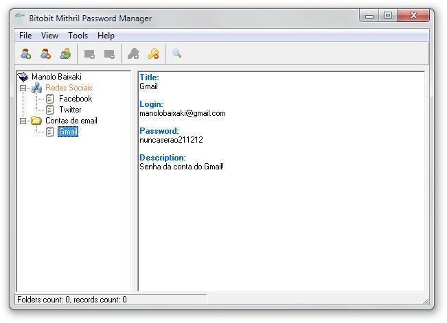 Bitobit Mithril Password Manager - Imagem 1 do software