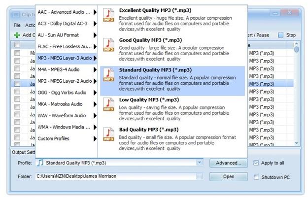 Clip to MP3 Converter - Imagem 3 do software
