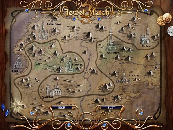 O mapa do jogo