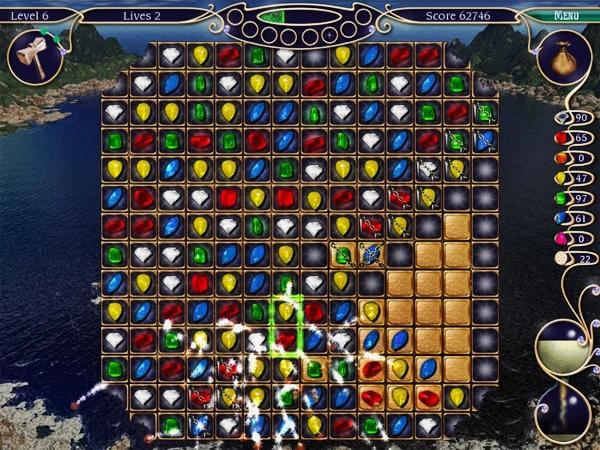 É possível utilizar magias para destruir pedras