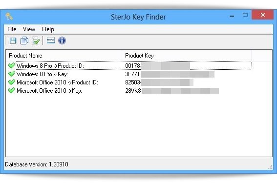 SterJo Key Finder Portable - Imagem 1 do software