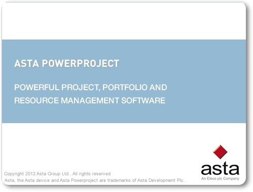 Asta Powerproject - Imagem 1 do software
