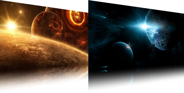 Imagens de universos diferentes