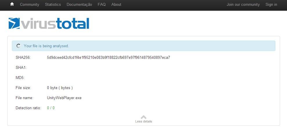 VirusTotal Uploader Portable - Imagem 2 do software