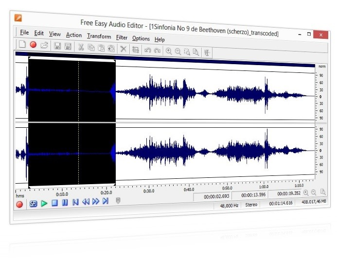 Free Easy Audio Editor.