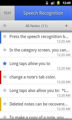 ListNote Speech to Text Notes - Imagem 2 do software