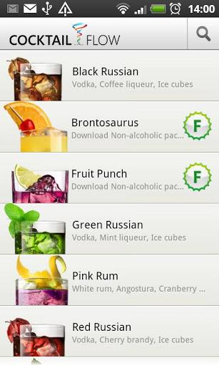 Cocktail Flow - Drink Recipes - Imagem 1 do software