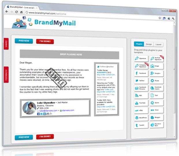 BrandMyMail para Google Chrome - Imagem 1 do software