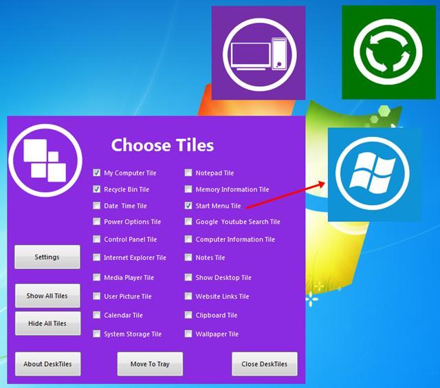 Coloque widgets coloridos na Área de trabalho