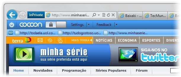Cocoon for Internet Explorer - Imagem 3 do software