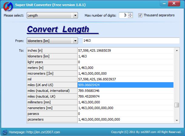 Super Unit Converter - Imagem 1 do software