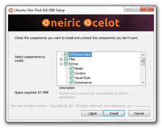 Ubuntu Transformation Skin Pack - Imagem 3 do software