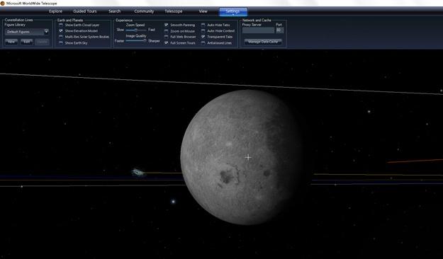 Microsoft WorldWide Telescope Beta - Imagem 1 do software