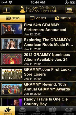 GRAMMY Live - Imagem 1 do software
