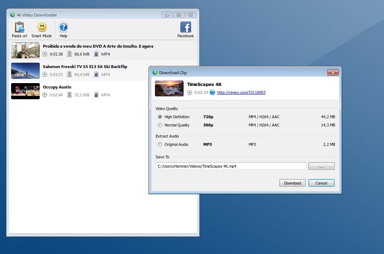 4k Vimeo Downloader - Imagem 2 do software