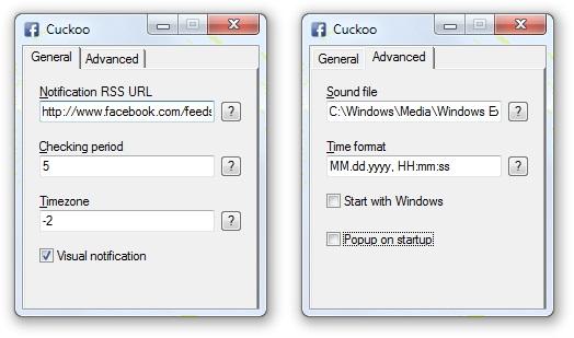 Cuckoo para Facebook - Imagem 2 do software