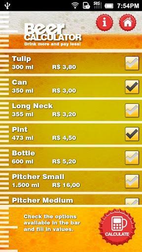 BeerCalculator - Imagem 2 do software
