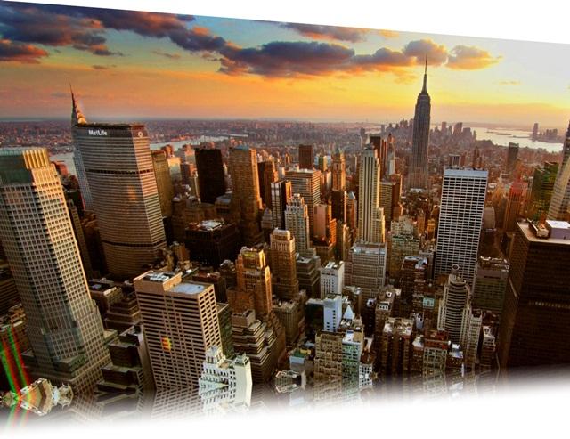 O tema traz várias imagens da cidade de New York
