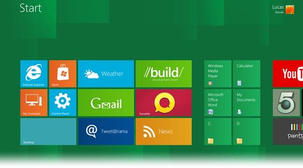 Windows 8 Start Screen Full
