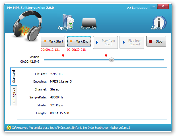 My MP3 Splitter - Imagem 1 do software