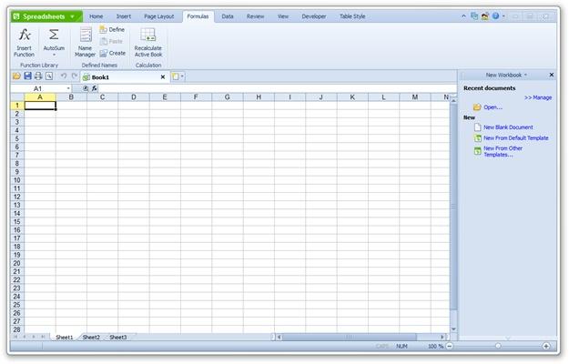 Kingsoft Spreadsheets Professional 2012 - Imagem 1 do software