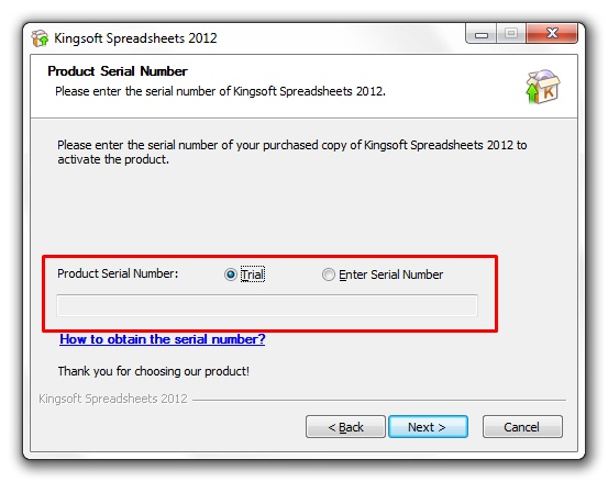 Kingsoft Spreadsheets Professional 2012 - Imagem 2 do software