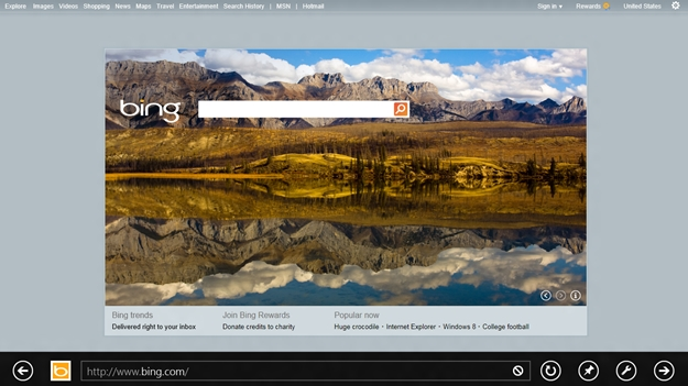 Internet Explorer 10 no Windows 8.
