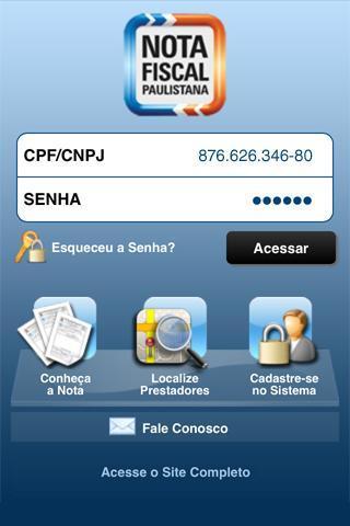 Nota Fiscal Paulistana - Imagem 1 do software