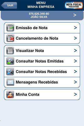Nota Fiscal Paulistana - Imagem 2 do software