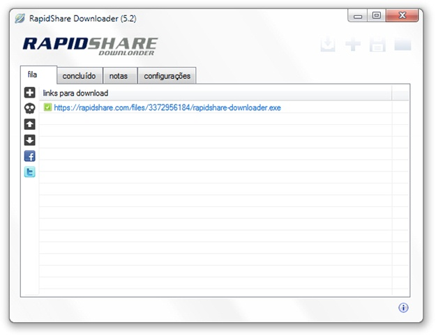 RapidShare Downloader - Imagem 1 do software