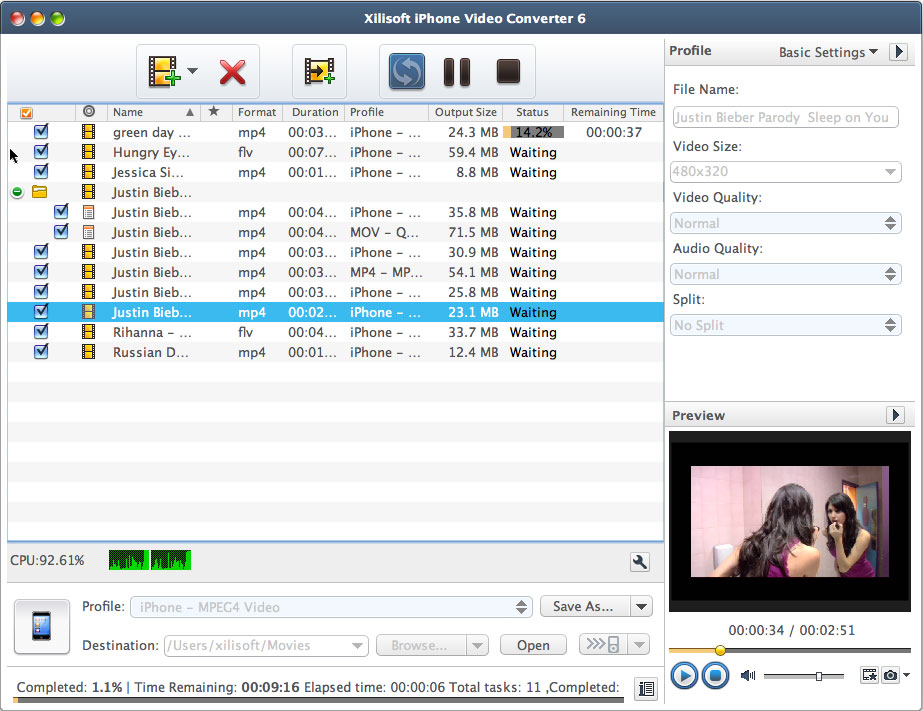 Xilisoft iPhone Video Converter - Imagem 1 do software