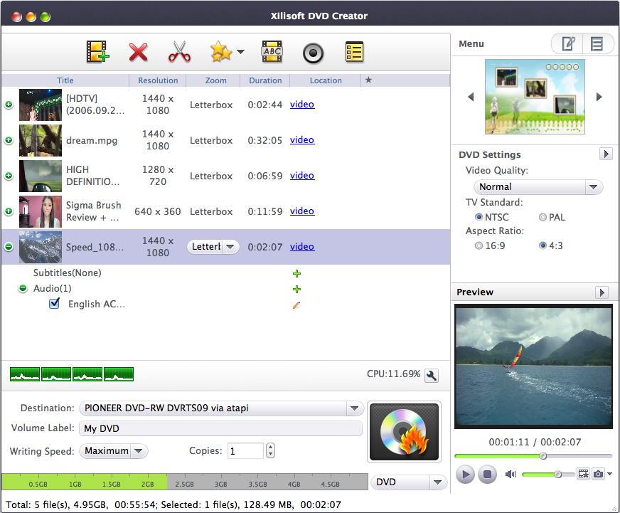 Xilisoft DVD Creator - Imagem 1 do software