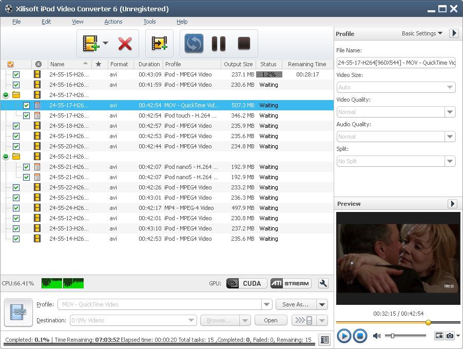 Xilisoft iPod Video Converter - Imagem 1 do software
