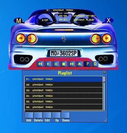 Skin em forma de carro para o Creative CD