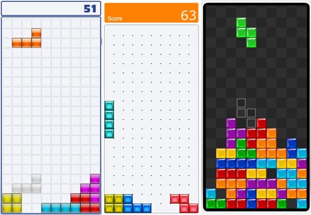 Alguns modos do Tetris Friends