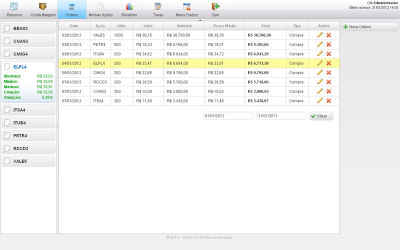 ControlAção - Imagem 1 do software