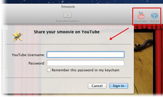 Exporte o seu vídeo para o YouTube ou iTunes