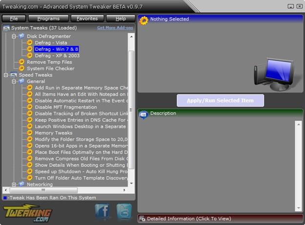 Tweaking.com - Advanced System Tweaker - Imagem 2 do software