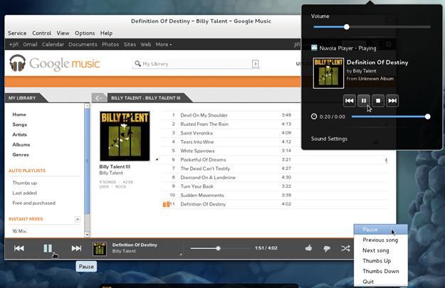 Nuvola Player - Imagem 1 do software